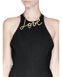 Lanvin Metallic 'love' Necklace