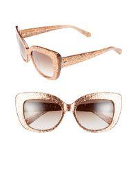 kate spade new york Pink 55mm Cat Eye Sunglasses