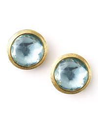 Marco Bicego | Blue Jaipur Topaz Stud Earrings | Lyst