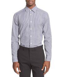 Paul Smith Blue 'byard' Trim Fit Seersucker Dress Shirt for men