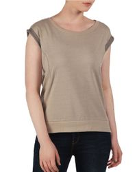 Bench - Brown Flashdance Cotton Top - Lyst