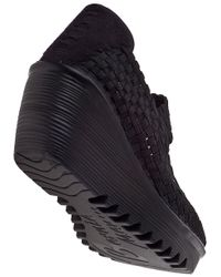 Bernie Mev | Lulia Wedge Sneaker Black Fabric | Lyst