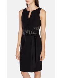 Karen Millen - Blue Belted Modern Wrap Pencil Dress - Lyst