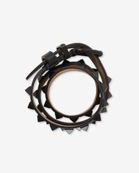 Barbara Bui Studded Belt Bracelet Black
