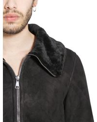 Giorgio Brato Black Merino Shearling Coat for men
