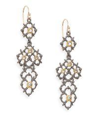 Alexis Bittar | Metallic Elements Muse D'ore Swarovski Crystal & Two-tone Woven Drop Earrings | Lyst