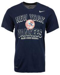 Nike Blue Men's New York Yankees Cooperstown T-shirt for men