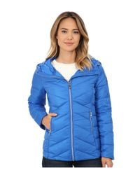 Sam Edelman | Blue Hooded Packable Down Jacket | Lyst