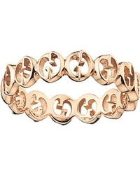 Gucci | Pink 1973 18ct Rose-gold Wide Ring | Lyst