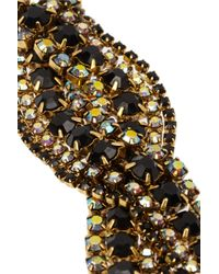 Elizabeth Cole - Metallic Gold-Plated Swarovski Crystal Bracelet - Lyst