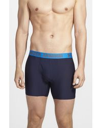 Under Armour | Blue Heatgear Boxer Briefs, (2-pack) for Men | Lyst