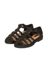 TOPSHOP Black Florence Gladiator Sandals
