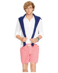 Polo Ralph Lauren | Pink Traveler Dotted Swim Shorts for Men | Lyst