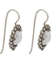 Cathy Waterman - Metallic Women's Lace Earrings - Lyst