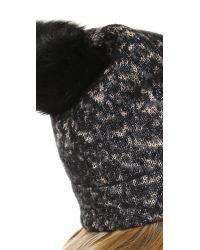 Rag & Bone Black Scarlett Beanie Hat