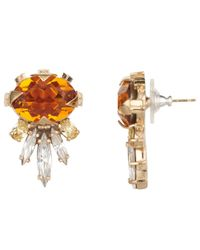 Cabinet | Metallic Gold Plated Swarovski Crystal Cirripedia Earrings | Lyst