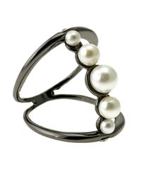 Colette Malouf | Black Pearl Sphere Ring | Lyst