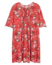 Mango - Orange Floral Print Dress - Lyst