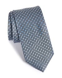 John W. Nordstrom - Gray 'bambino' Geometric Silk Tie for Men - Lyst