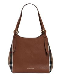 Burberry | Brown Small Canterbury Check & Leather Bag | Lyst