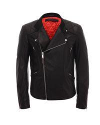 Alexander McQueen Black Skull Leather Biker Jacket