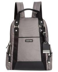 Calvin Klein | Gray Ballistic Nylon Backpack | Lyst