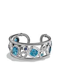 David Yurman - Metallic Mosaic Cuff With Diamonds - Lyst