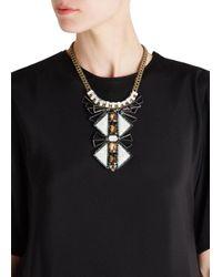 Nocturne - Metallic Tiebele Embellished Necklace - Lyst