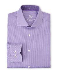 Bugatchi - Purple Dress Shirt for Men - Lyst