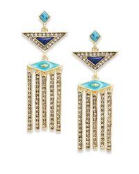 House of Harlow 1960 | Blue Geometric Statement Drop Earrings | Lyst