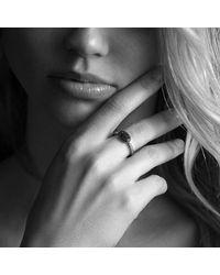 David Yurman - Metallic Petite Pavé Ring With Diamonds - Lyst