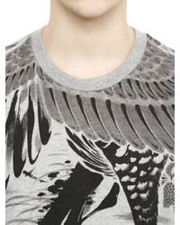 Miharayasuhiro Gray Jyakuchu Printed Cotton Sweatshirt for men