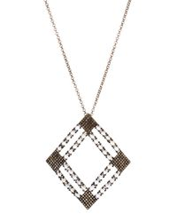 Bavna | Metallic Moonstone & Pave Open-diamond Pendant Necklace | Lyst