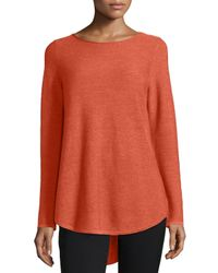 Eileen Fisher - Orange Long-sleeve Merino Wool Tunic - Lyst