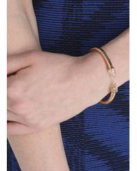 Vita Fede | Metallic Mini Titan Rose Gold Tone Embellished Bangle | Lyst