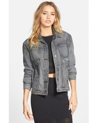 RVCA | Blue 'road Worthy' Denim Jacket | Lyst