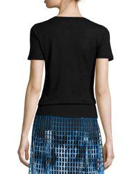 Elie Tahari - Black Slone Short-sleeve Cashmere Sweater - Lyst