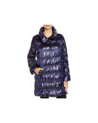 Eileen Fisher Blue Down Puffer Coat - Bloomingdale's Exclusive