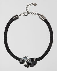 Jaeger - Black Rope and Pendant Necklace - Lyst