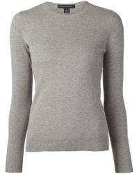 Ralph Lauren Black Label - Gray Crew Neck Sweater - Lyst
