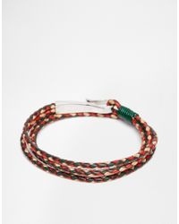 Ted Baker | Green Plaited Wrap Leather Bracelet for Men | Lyst