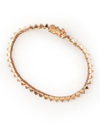 Eddie Borgo Metallic Rose Gold Pyramid Tennis Bracelet