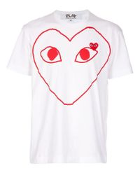 Play Comme des Garçons - White Heart Logo T-shirt for Men - Lyst