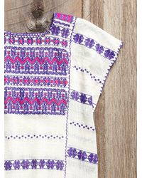 Free People - Multicolor Vintage Oaxacan Embroidered Dress - Lyst