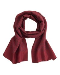 J.Crew - Red Preorder Silk Tie Scarf - Lyst
