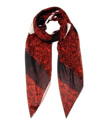 Marc By Marc Jacobs - Multicolor Printed Silk And Cotton Blend Scarf - Lyst