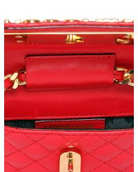 Moschino Red Fantasy Large Printed Patent Leather Crossbody Bag