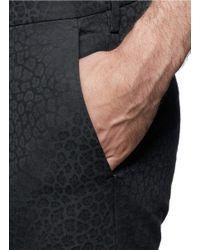 Paul Smith - Black Leopard Jacquard Slim Fit Pants for Men - Lyst