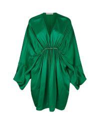 Stella McCartney Green Elitta Satin Mini Dress