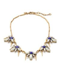 J.Crew Metallic Spikey Firefly Necklace